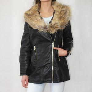 Stella Morgan Black Biker Style Fur Detail Jacket