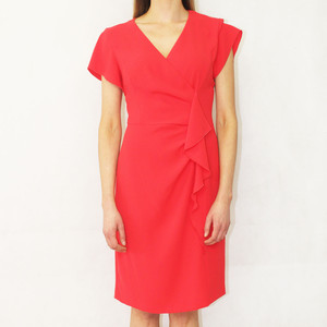 Gerry Weber Red Dress with a Flounce edge