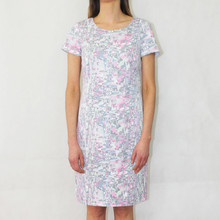 Bianca Pale Pink Fleck Round Neck Dress
