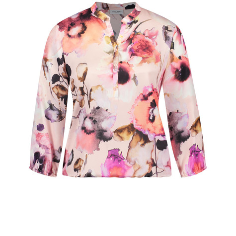 Gerry Weber Rosa 3/4-sleeve blouse with a gathered hem