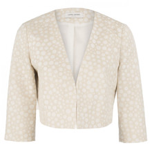 Gerry Weber ECRU TEXTURED CROP JACKET