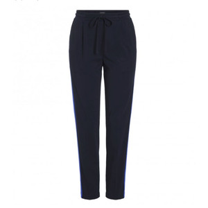 One More Story JERSEY PLEATED TROUSERS WITH PURPLE STRIPE