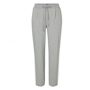 One More Story JERSEY PLEATED TROUSERS WITH WHITE STRIPE