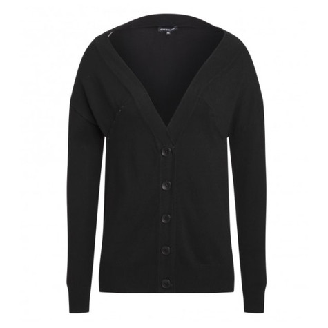 One More Story BLACK BUTTON UP CARDIGAN