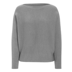 One More Story GREY STRICKPULLOVER