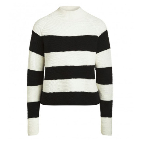 One More Story NAVY & OFF WHITE STRIPE KNIT