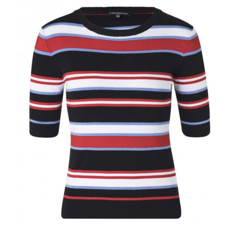 One More Story STRIPE FINE KNIT SWEATER