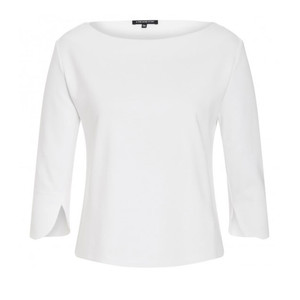 One More Story WHITE ROUND NECK TOP