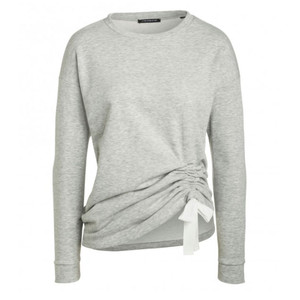 One More Story GREY SWEATER WITH RIBBON DETAIL