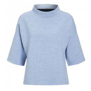 One More Story CYAN TURTLE NECK SHORT SLEEVE TOP