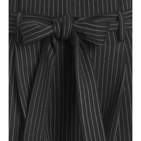One More Story WHITE PINSTRIPE PANTS