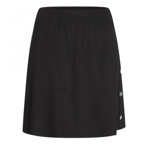 One More Story BLACK SILVER BUTTON SKIRT