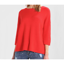 One More Story FLAME RED ROUND NECK TOP