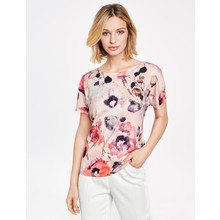 Gerry Weber Rosa & Melone Druck Floral Print Over Sized Top