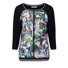 Betty Barclay Floral Print Dark Sleeve Knit