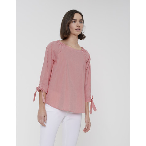 Opus FAZILE POPPY RED STRIPE BLOUSE