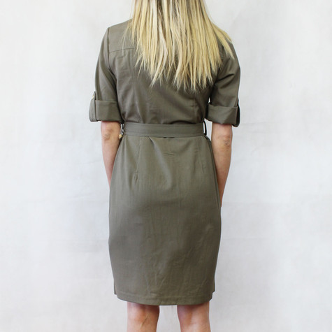 Sharagano Moss Shirt Belt Dress