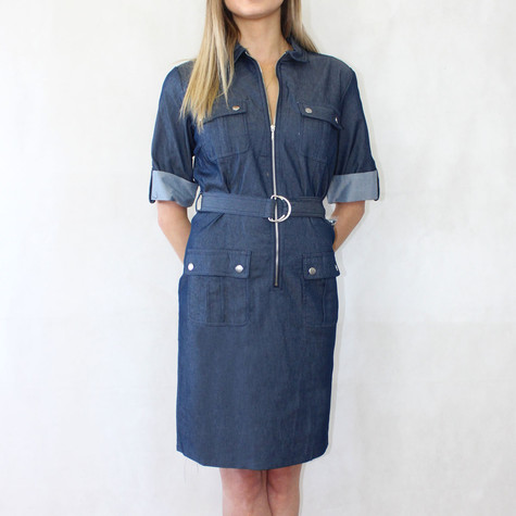 Sharagano Vintage Blue Shirt Dress
