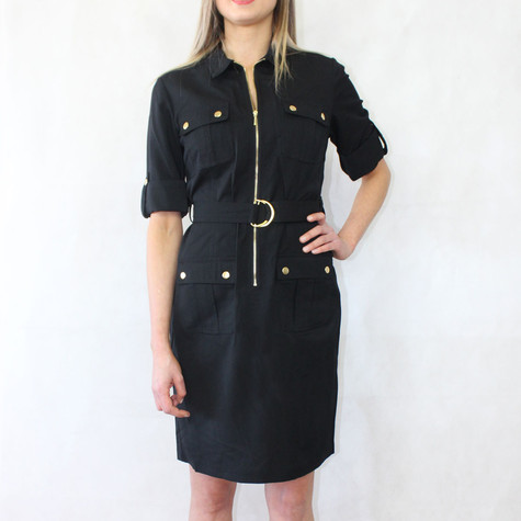 4e7d13c8473 Sharagano Black Shirt Dress