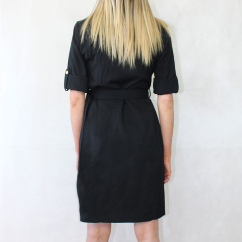 Sharagano Black Shirt Dress