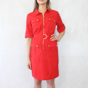 Sharagano New Red Shirt Dress