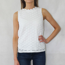 Zapara White Scallop Top