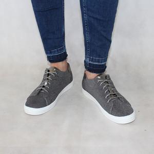 Rachel Pewter Glitter Lace Trainer Shoe