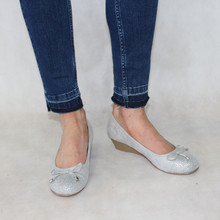 Rosie Ice & Glitter Lace Detail Slip-On Shoe