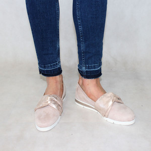 Rosie Nude Bow Detail Slip-On Shoe