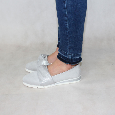 Rosie Grey Bow Detail Slip-On Shoe