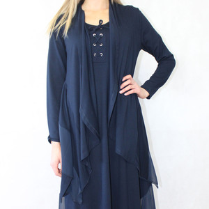 SophieB Navy Long Open Cardigan
