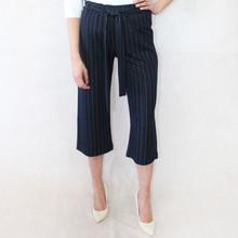Zapara Pinstripe Navy Culotte Trousers