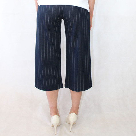 Zapara Pinstripe Navy Culotte Trousers