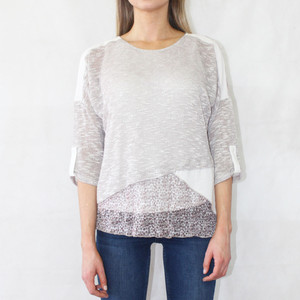 SophieB Linen Beige 3 in 1 Top