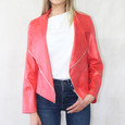 SophieB Coral Biker Style Jacket