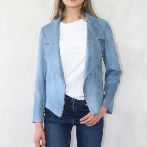 SophieB Pale Blue Biker Style Jacket