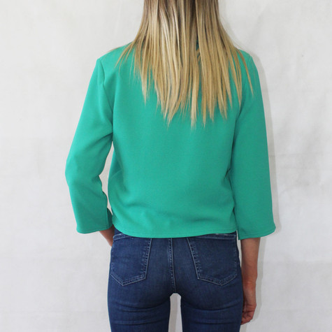 Zapara Green Open Front Jacket