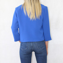 Zapara Royal Blue Open Front Jacket