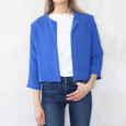Zapara Royal Blue Open Front Jacket
