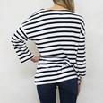 SophieB Navy & White Stripe Round Neck Knit