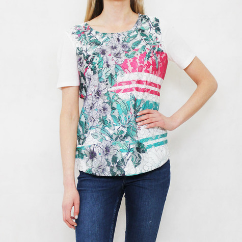 Gerry Weber Tropical Garden Floral Mesh Print Top