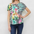 Gerry Weber Tropical Garden Black & White Stripe Top