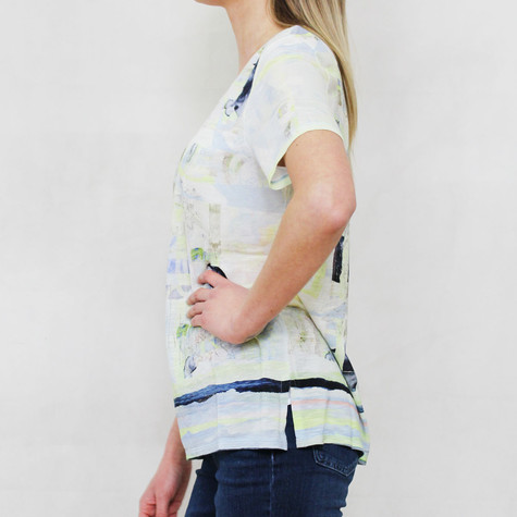 Gerry Weber Daydream Pale Lime Graphic Print Top