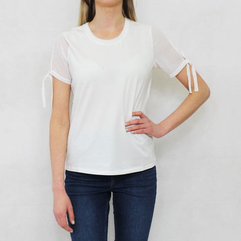 Gerry Weber Daydream White Tie Sleeve Detail Top