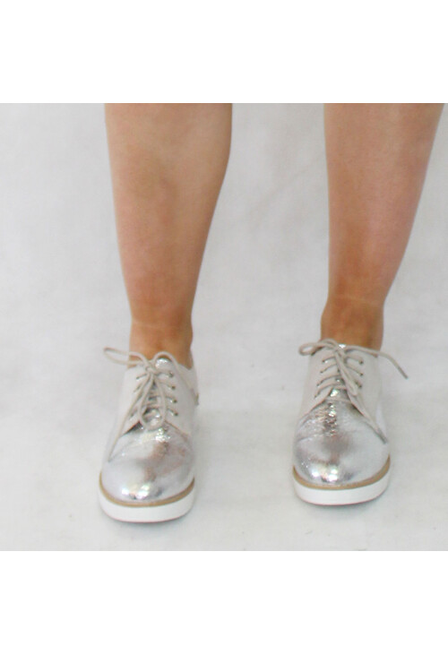 H2B Diffusion Silver Lace Up Brogues