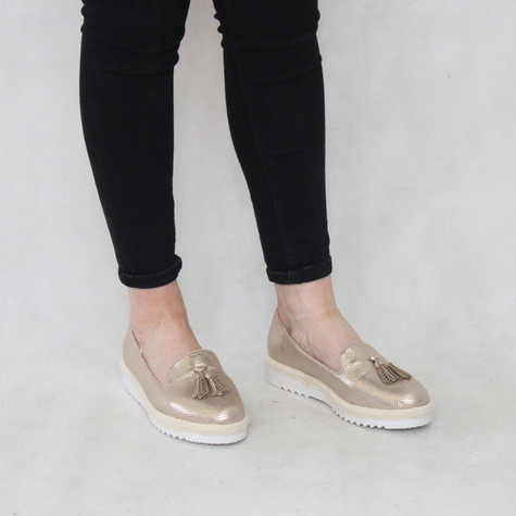 H2B Diffusion Champagne Slip-On Loafer