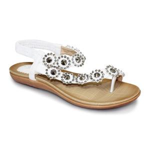Lunar White Floral Slip On Sandal