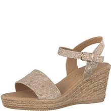 Marco Tozzi Platinum Strap Wedge Sandal
