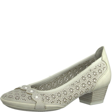 Marco Tozzi Light Grey Pattern Slip On Shoes