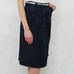 Gerry Weber Retro Vibe Navy Skirt with Silver Belt Detail